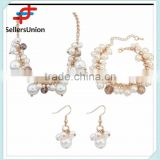 No.1 yiwu exporting commission agent wanted indian bridal pearl necklace and earrings set jewelry set