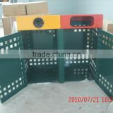 Outdoor steel stainless steel garbage container