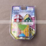 wholesale 3 in 1 colorful plastic magic puzzles cube for children gifts educational toys