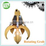 Excavator Rotating Grapple / Hydraulic Grapples Construction Machinery Parts