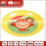 2016 New Design Cute Round Plastic Plate for Food