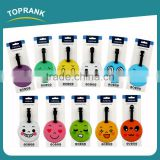 Toprank Custom Colorful Strip Emoji Suitcase Baggage Tag Travel Airline PVC Luggage Tag Bag Tag Travel ID Card