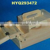 wholesale high quality folding wooden sewing box
