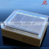 JYTH-007Factory wholesale clear acrylic tea gift box,customized glass size tea box