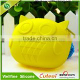 Eco-friendly silicone Material animal shape coin purse/ fancy rubber squeeze jelly pocket coin purse