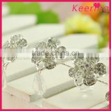 wholesale fashion white elegant flower hair decoration chain with rhinestone for wedding decoration in bulk WHD-035