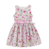 Wholesale New Flower Printing Style Dresses for Girls Sleeveless Children Clothes Princess Dress