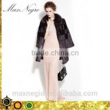 Red wine color rex rabbit fur pattern of natural fur coats