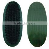 leather care wooden handle green PP hair shoe brush