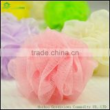 Wholesale bath sponge with rope body exfoliating PE mesh bath ball sponge cleaning