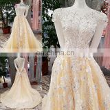 LS00352 lace cap sleeves zipper appliques quinceanera dresses ball gown dresses evening