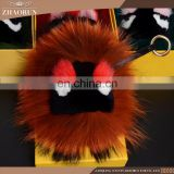 Buy Wholesale Direct From China emoji keychain fox fur key chain colorful fox tail pendant