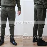 Men's Slim Fitted Quilted sides Bottom Zip Closure Sweatpant Jogger Pants Jersey / Casual Pants-Trouser