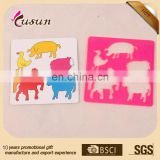 Funny and plastic novetly promotion cartoon animal stencil ruler for kids