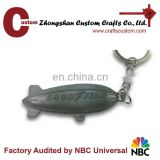 Bulks Sale PVC airplane with wishes Souvenir metal keychains gifts