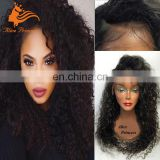 Aliexpress Brazilian Human Hair Lace Front Wig Curly Style With Glueless Hair Cap Medium Small Large Size For Black