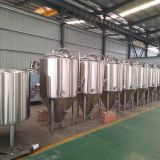 Beer fermentation tank, conical fermenter with cooling jacket