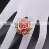 fashion ring natural rose dipped gold ring for wedding gifts