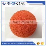 Construction building DN125 the concrete medium hard orange natural cleaning ball flushing