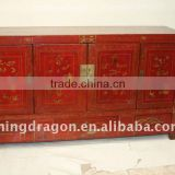 Antique Chinese Old Painted Wedding Cabinet