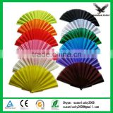 Colorful(black, red,pink,blue,green,yellow,white) plastic folding fan wholesale (directly from factory)