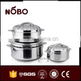 European style stainless steel commercial cooking pots 3 sets