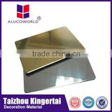 Alucoworld decorative building materials supplies /brushed silver acp boards aluminum composite board(ACP)