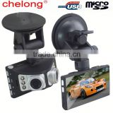 5 Mega Pixels Novatek 2.7inch Dual Lens G-sensor night vision day or night car dvr black box