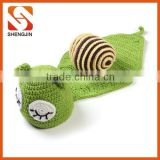 SJ-6442 New design green honeybee shape baby costume,crochet baby photo prop,handmade newborn photo props