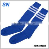 new design blue stripe custom knee high student sock