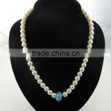wholesale chunky white beaded bubblegum necklace