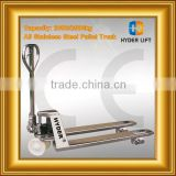 All stainless steel pallet trucks used container price