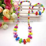 winter new style fashion jewelry set cute candy bead children necklace bracelet set for kid
