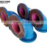 ceramic lining wear abrasion resistant steel elbow