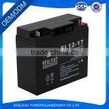 popular AGM type 12v 17AH lead Acid battery of green energy