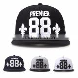 [P439-P442] PREMIER 88 AW high level embroidery quality customized snapback shape cap hat