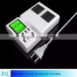 Wholesale high quality ABS 8 usb port usb wall charger adapter with LCD Display UK US EU plug
