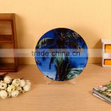 Round shape sublimation glass coaster made in China