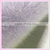 acrylic pile knitting fur fabric high quality clothing raw material blue china supplier