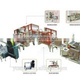Full-Automatic Packing Lines for erector,case packer,sealer,strapper,palletizer and wrapper