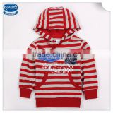 (A3002)2015 Red 1-5Y wholesale kids hoodies coats nova kids clothing striped baby coats cotton boys winter jacket