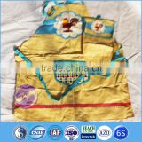 Qingdao Shandong wholesale custom printed cotton kitchen cooking net bag and apron set