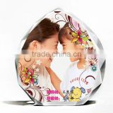 baby souvenir crystal plaque photo frame with nice design