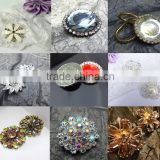 Rhinestone metal button with shank flower shape crystal fashion silver cheap garment decoration DIY crafts wholesale for wedding