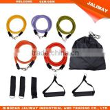 Natural Latex Resistance Bands With Door Anchor, Ankle Strap, and Carrying Case Yoga Pilates Abs Exercise Tube