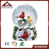Christmas red bird snow globe with glass water ball                                                                         Quality Choice                                                                     Supplier's Choice