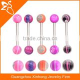 TR01047 cool piercing barbell colored banana tongue piercing