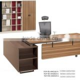Chinese price modern walnut color executive working station desk and chair (FOH-ED-AM2116-A)