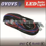 Automotive parts 4 Turn ON/OFF switch LED Work Light Bar wire harness kits for trucks universal cars