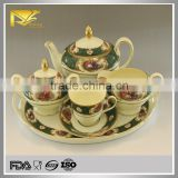 porcelain russian tea set, gold plated tea cup set, tea set stand